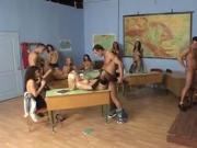 Orgy in school.