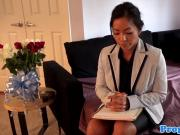 Asian realtor pussypounded by the landlord