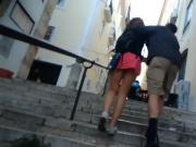 Inglesa em Lisboa - Mini-saia curta