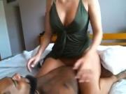 Sexy White With Big Tits Fucking Her Black Boyfriend