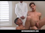 Jock Mormon Boy Fucked By President While Priest Watches