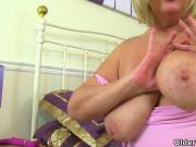 British milf Alisha Rydes puts her sex toy to work