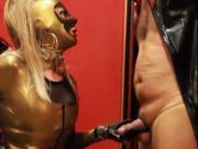 Golden boots, golden Mistress, massive cumload