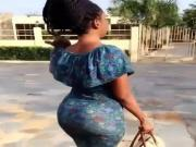 African fat booty beauty in dress