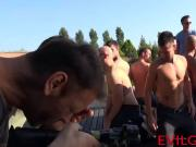 They love having one wild orgy party outside with some hunks