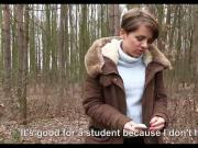 Euro Girl Fucked in the woods