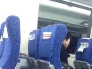 asian casually wanking in train 1'32''