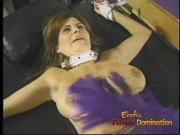 Charming brunette bimbo with big naturals gets whipped by