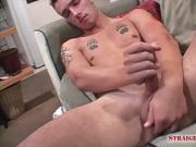 Tatted Marine Erik gets some help jacking