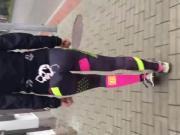 Sexy teen ass cum on leggings public
