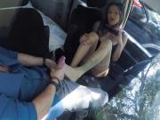 Nadia Styles gives footjob to a stranger