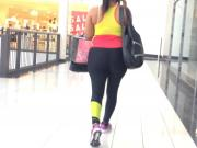 Black Spandex Walking at Mall busted!
