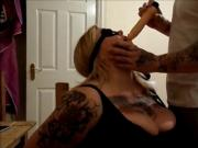 Filthy british meat , brutal face slapping, tit slapping