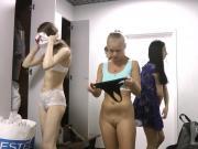 Video filmed on a hidden camera in the women's locker room.