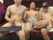 Young guys fool around naked on cam