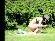 SpyCams Rus Voyeur Public park Flash Girl