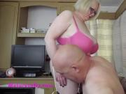 He loves her sexy pink knickers & stockings and suspenders