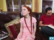 Dolly Little gets her lil pussy wrecked by her friends daddy
