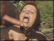 BBW Granny Mathilda Fucked Outdoors
