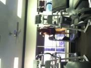 gym girl running