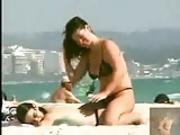 naughty girls on the beach