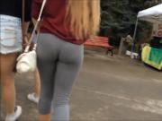 Amazing Teen Ass in Grey Spandex