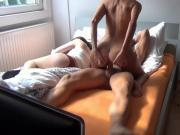 Horny Couple Fucking While Friend Is Resting