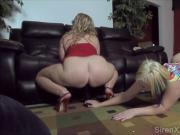 Big Ass Sluts Play in Front of Crowd