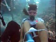 Underwater pussy view