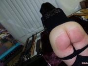 Round Bottom in Pain - Spanking