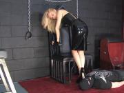 Blonde Latex Mistress Sounding Cock 02