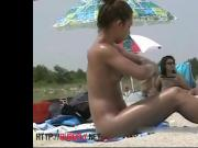 Sexy chicks are being filmed on the nudist beach