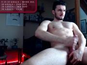hot athletic guy stroking his big cock on chaturbate