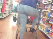 Round Booty Walmart Worker