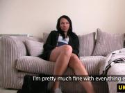 UK ebony doggystyled by sex agent at casting