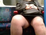 Upskirt thick legs