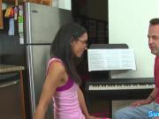 Real petite pussyfucked after piano lesson