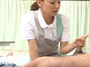 Raunchy nurse sucking off a patient and getting that dick ha