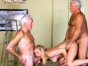 Vintage Old Young - Teenie Girl Fucked white hair grandpas