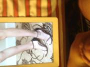 Cumming on Gal Gadot's Feet