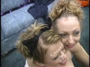 Jenny and Angel receiving facials