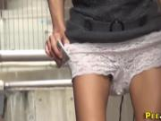 Naughty asians urinating