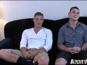 Army cutie Johnny screws with gorgeous hunk Bridger