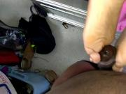 Cotton Purple Toes Reverse Footjob Part 1