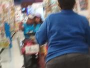 Big booty Granny ShopRite worker in jeans part 2