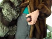 my mom's silver fox fur fucked while i wearing her mink fur