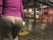 Big booty white girl with wide hips at work 3