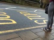 Pt.2 Student Yoga Pants Up Crack Gorgeous Arse Candid Street