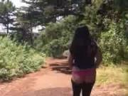 Thick Ass Asian Walks in Thong