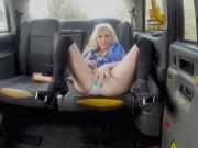 Barbie Sins pissing in the taxi